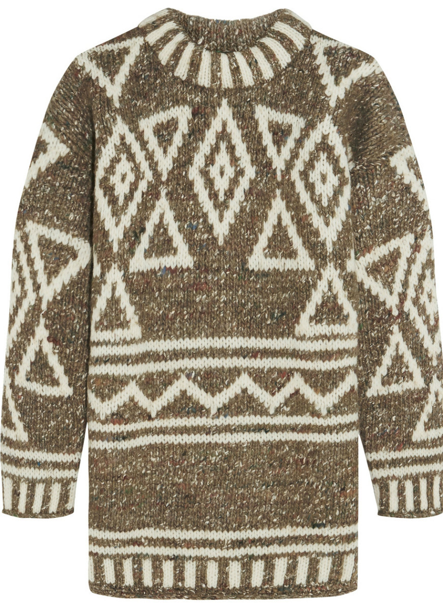 J.Crew Intarsia merino wool, alpaca and silk-blend sweater, $360, available at Net-a-Porter.