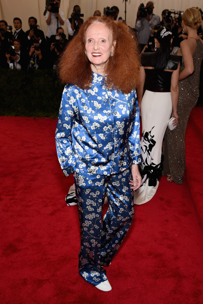 Grace Coddington at the Met Gala in 2015. Photo: Dimitrios Kambouris/Getty Images