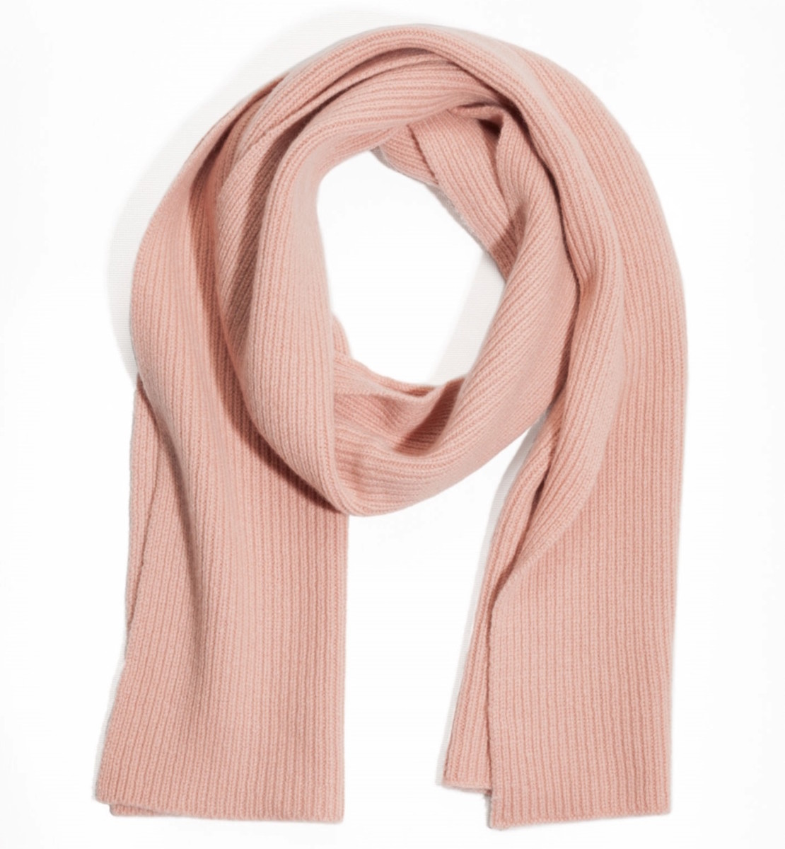 & Other Stories ribbed cashmere scarf, $95, available at & Other Stories.