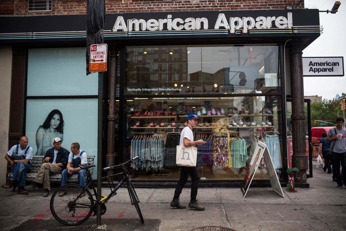 American Apparel storefront in New York City. Photo: Andrew Burton/Getty Images