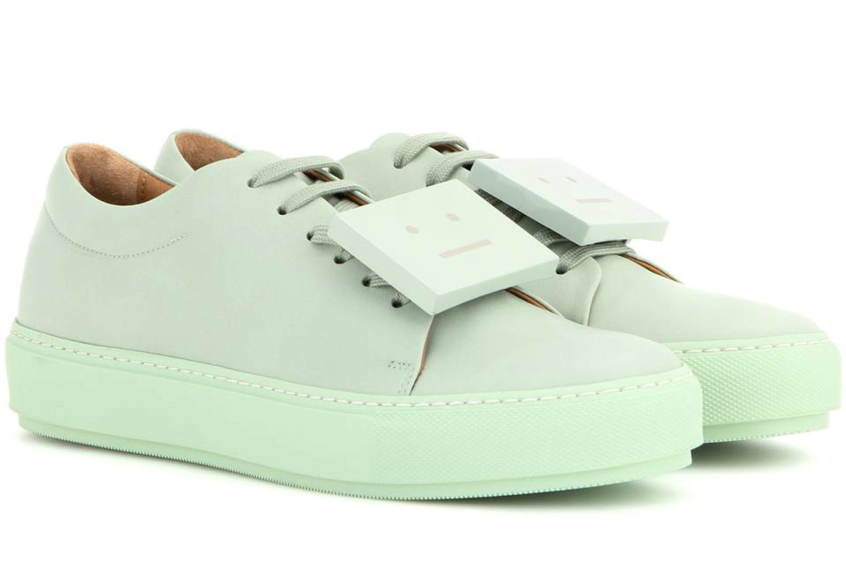 """Acne Studios """"Adriana"""" Turn Up leather sneaker, $450, available at MyTheresa.com."""