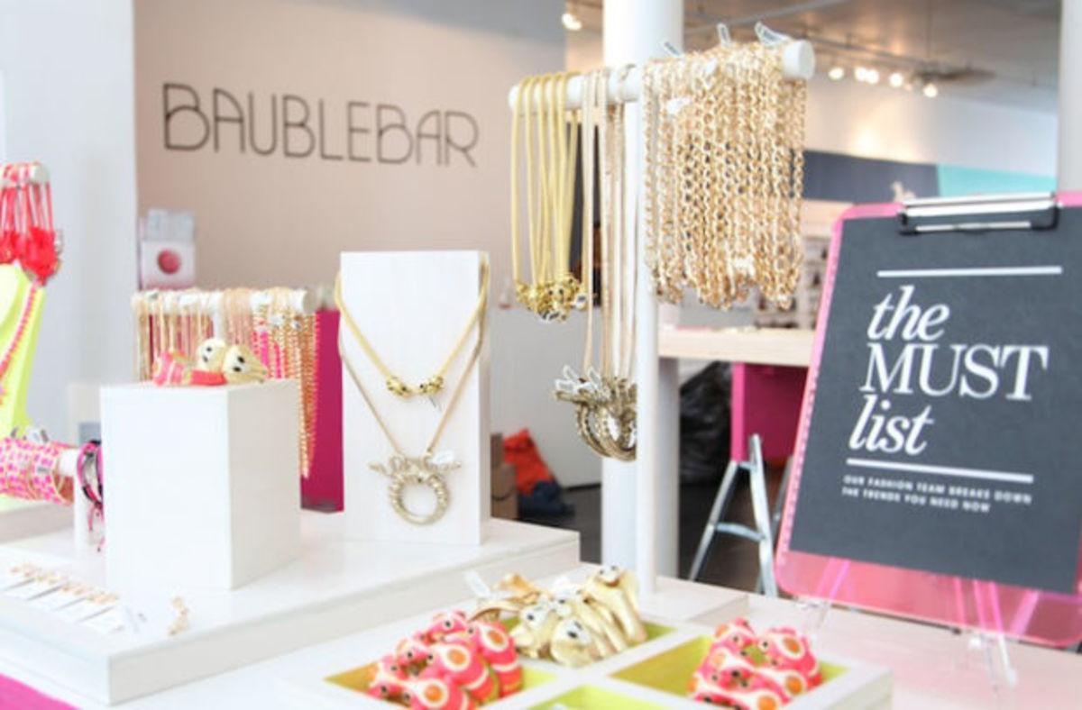 BaubleBar's former pop-up on Greene Street in New York. Photo: BaubleBar