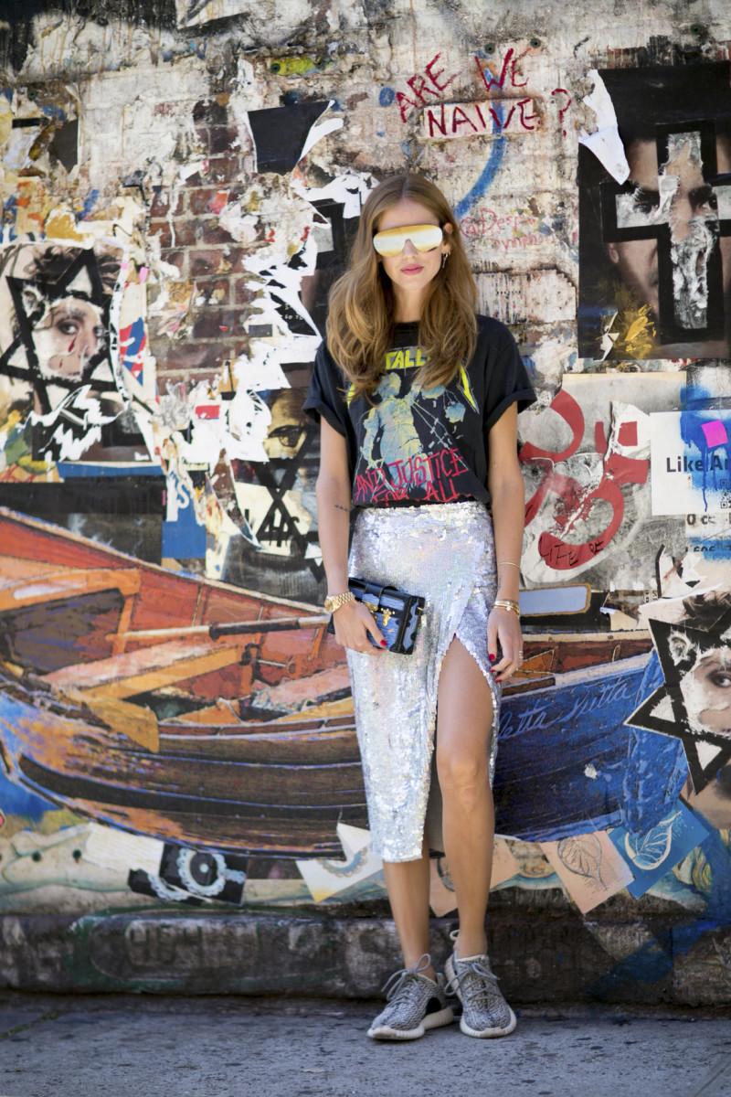 Chiara Ferragni, aka The Blonde Salad, at New York Fashion Week. Photo: Imaxtree
