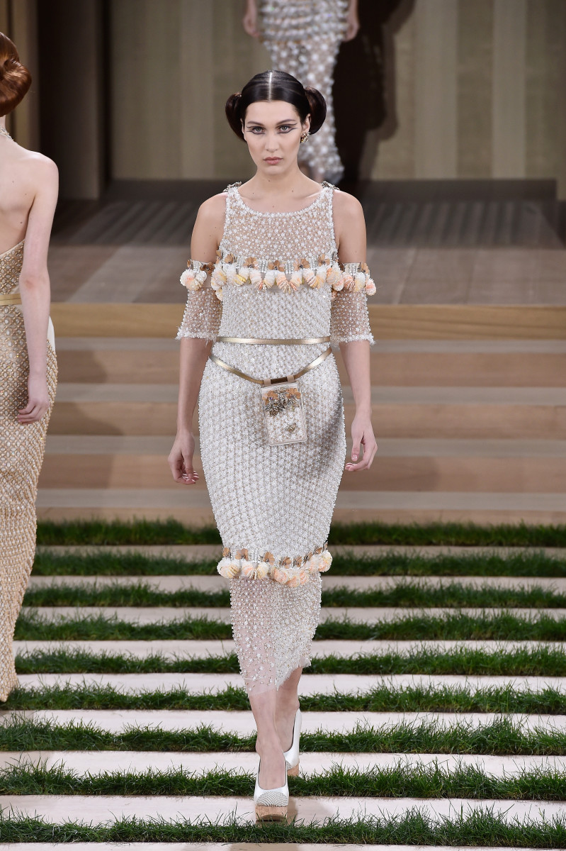 Bella Hadid in the Chanel Haute Couture spring 2016 show. Photo: Pascal Le Segretain/Getty Images
