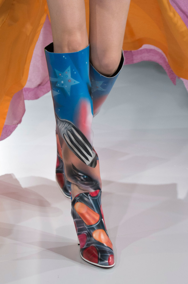 A boot from Maison Margiela's spring 2016 couture collection. Photo: Imaxtree