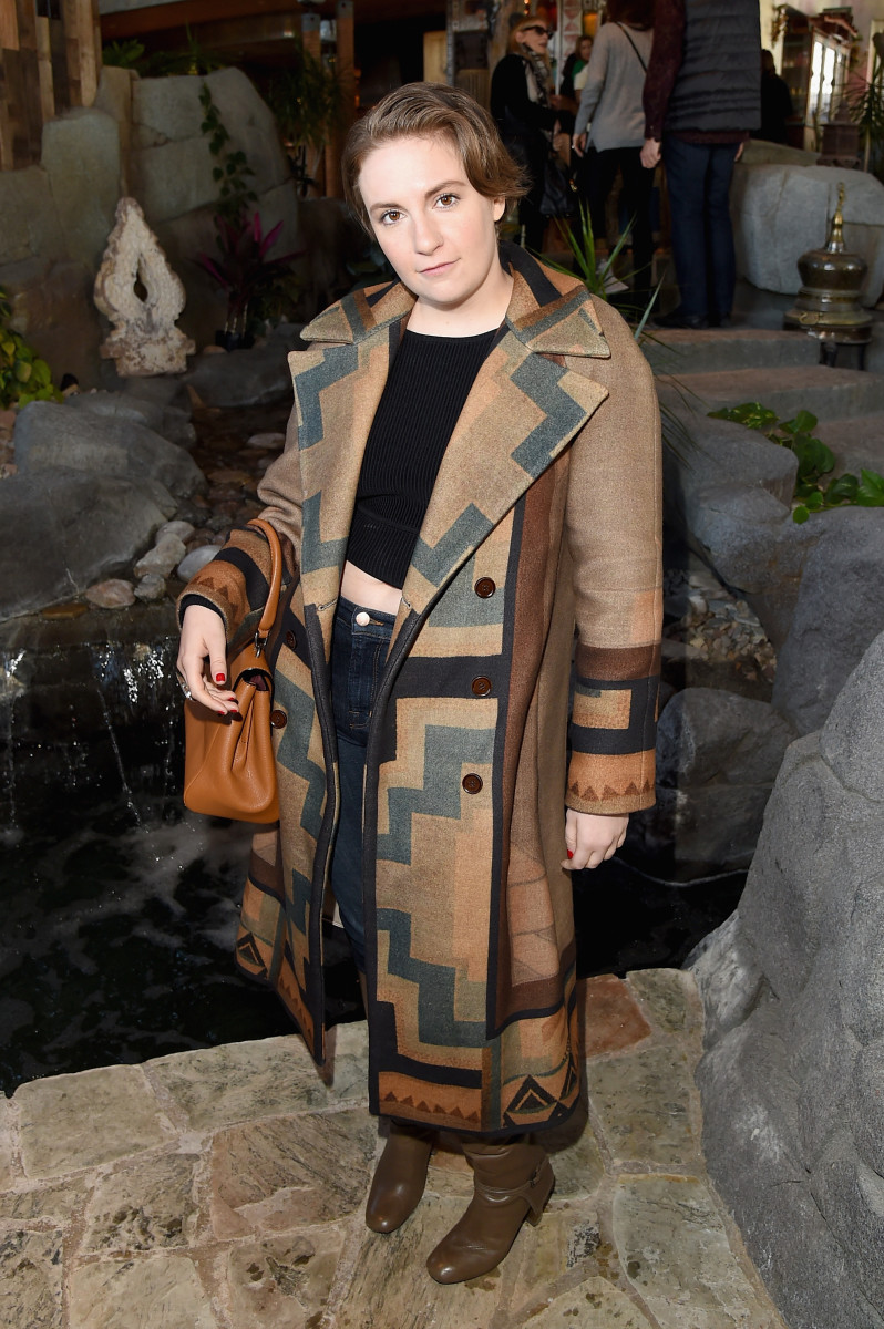 Lena Dunham at Glamour's Women Rewriting Hollywood Lunch at Sundance. Photo: Jason Merritt/Getty Images