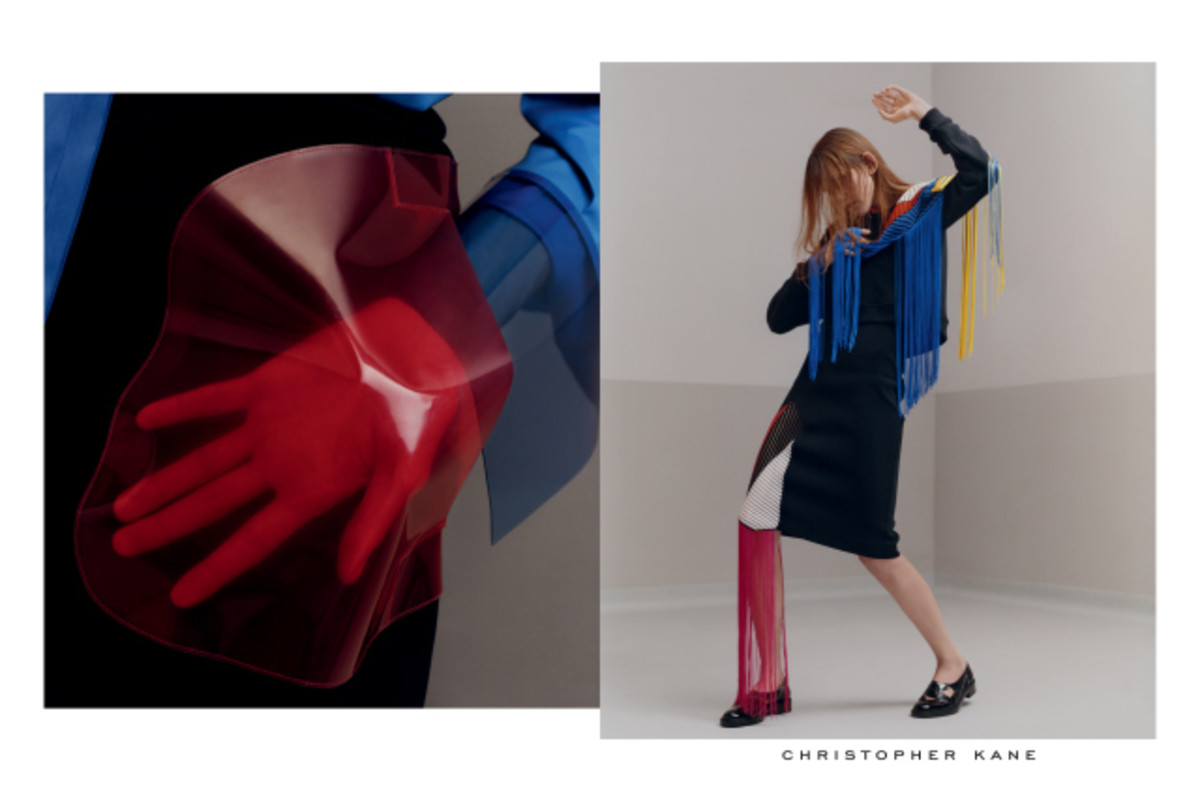 Alice Buckingham in Christopher Kane's spring 2016 campaign. Photo: Harley Weir