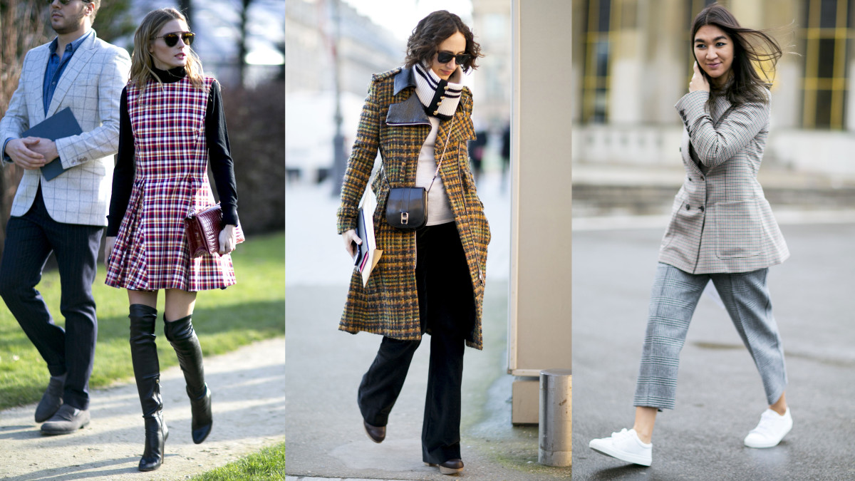 These ladies are mad for plaid in Paris. Photos: Imaxtree