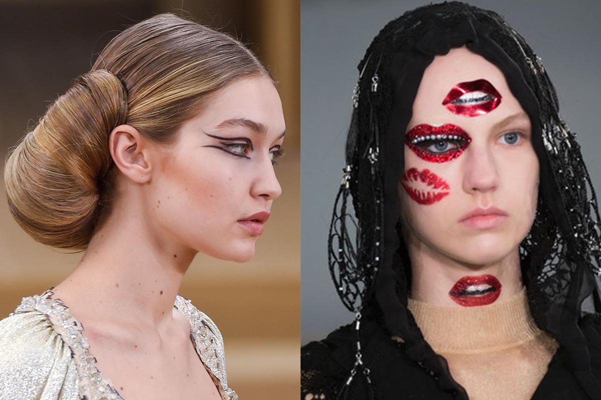 Creative looks at Chanel and Margiela. Photos: Imaxtree