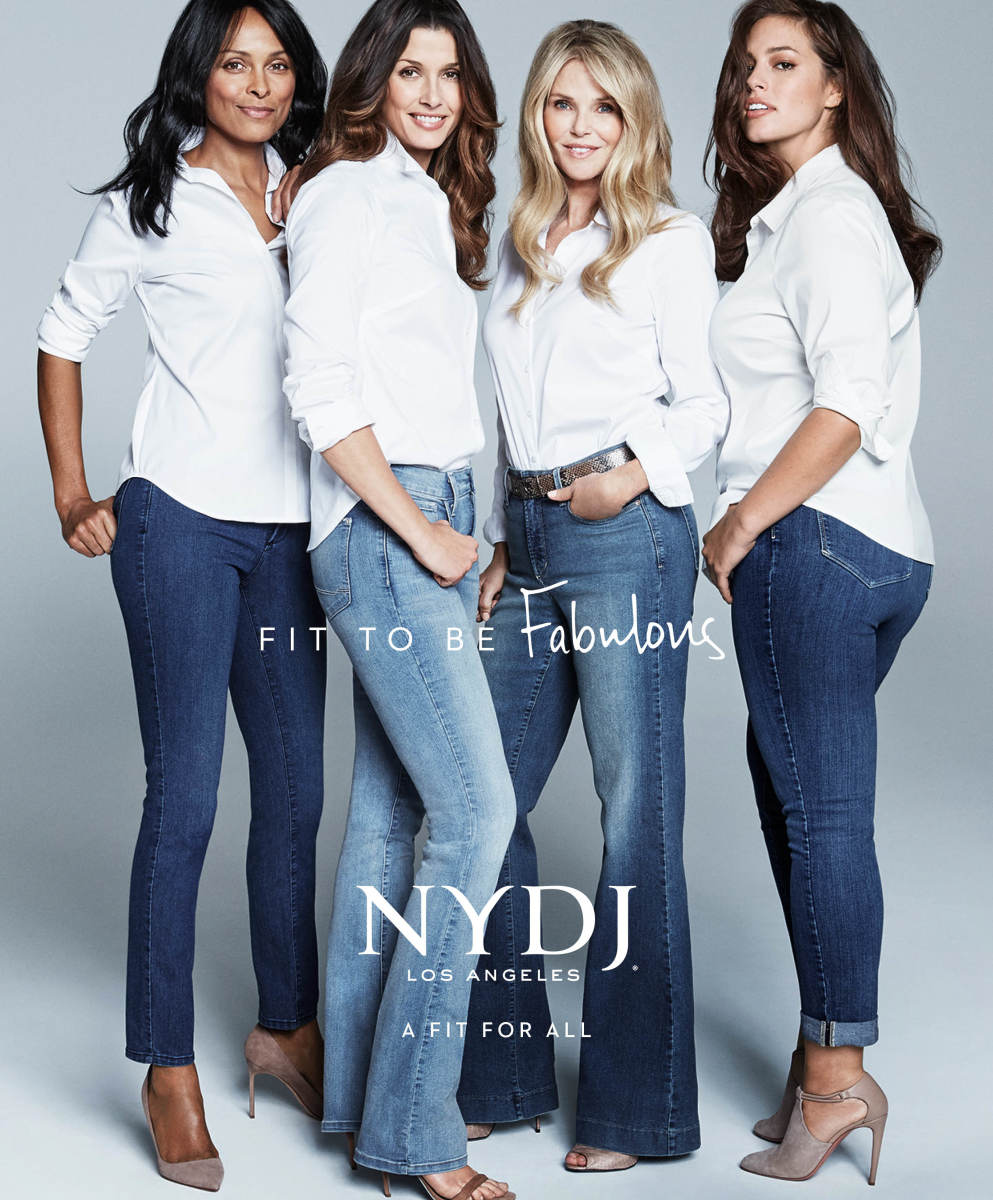 Lana Ogilvie, Bridget Moynahan, Christie Brinkley and Ashley Graham in NYDJ's ad campaign. Photo: Courtesy