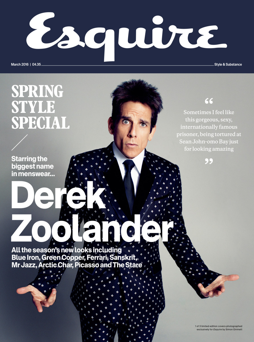 """One of three limited edition """"Esquire"""" UK's March 2016 covers. Photo: Simon Emmett"""