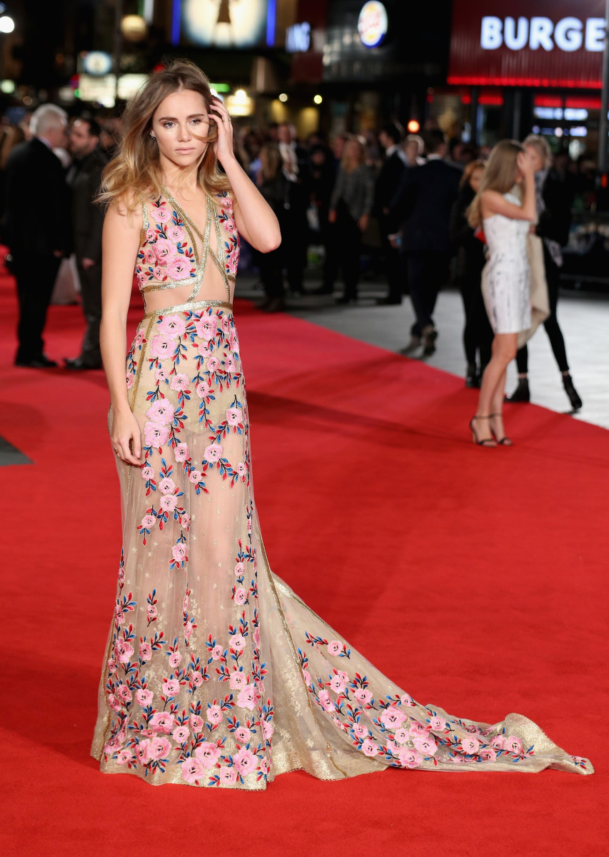 """Suki Waterhouse at the """"Price and Prejudice and Zombies"""" premiere. Photo: Chris Jackson/Getty Images"""