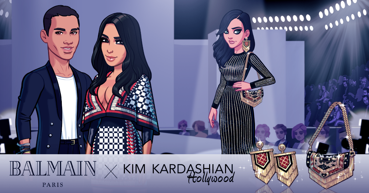 "Balmain's exclusive designs for ""Kim Kardashian: Hollywood."" Photo: Glu Mobile"