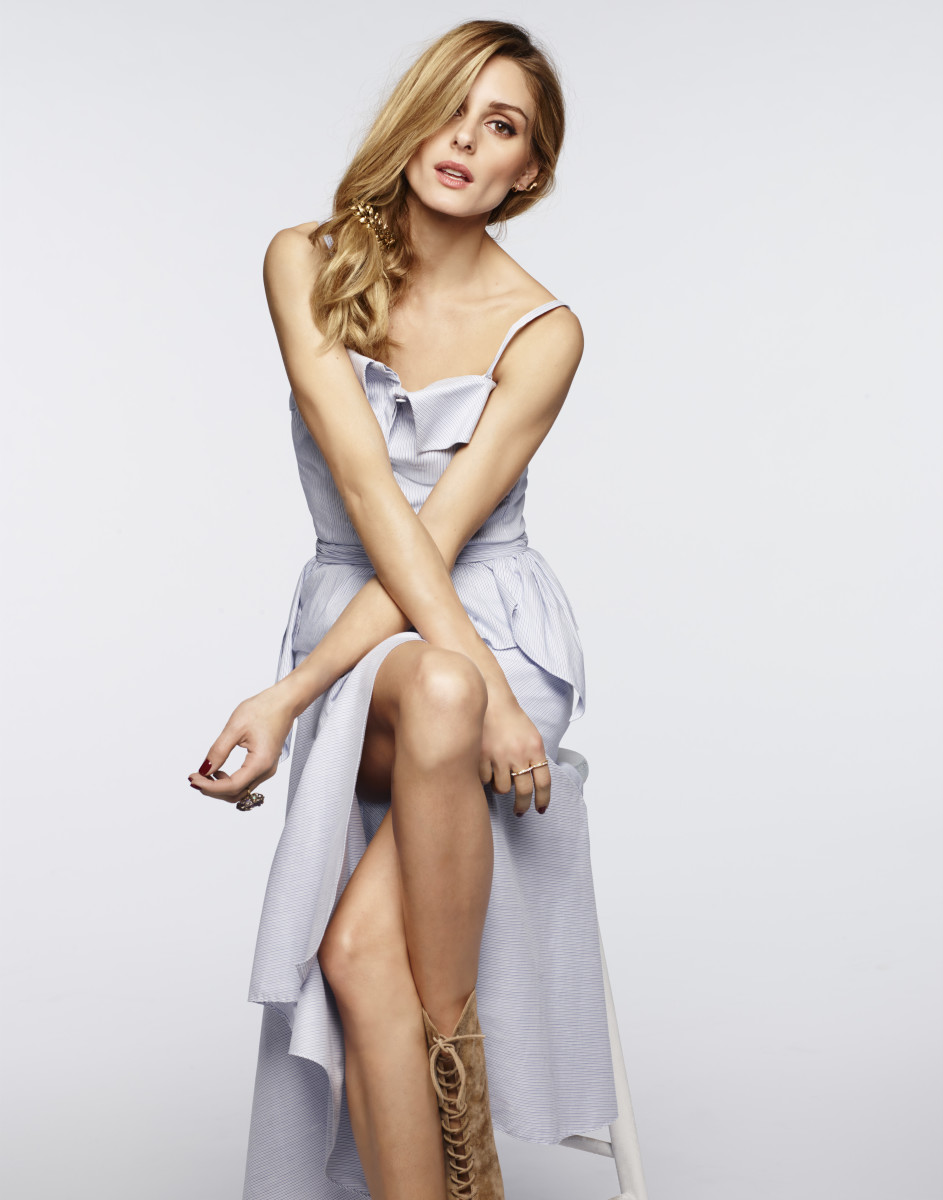 Olivia Palermo models a look from her Nordstrom collection. Photo: Nordstrom