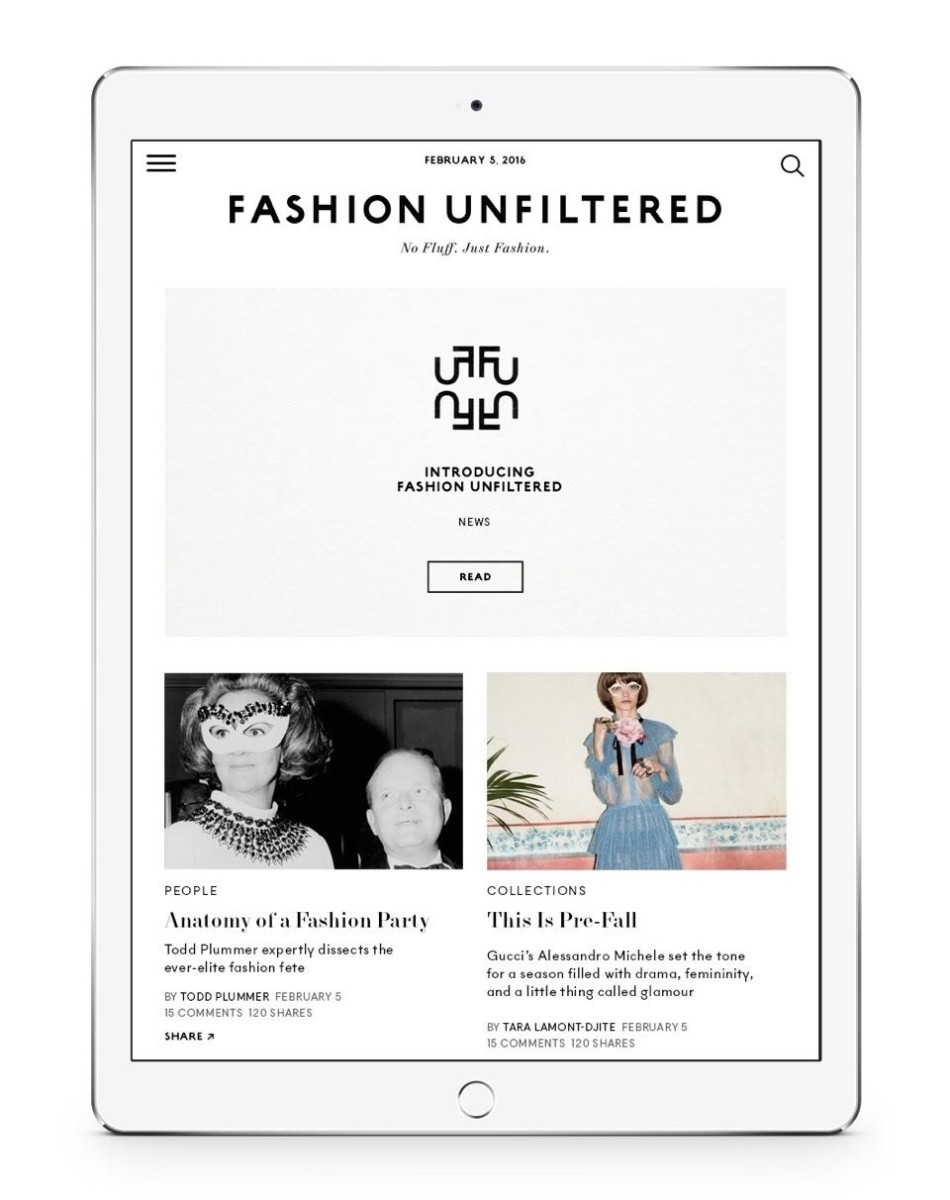 A sneak peek at 'Fashion Unfiltered.' Photo: Fashion Unfiltered