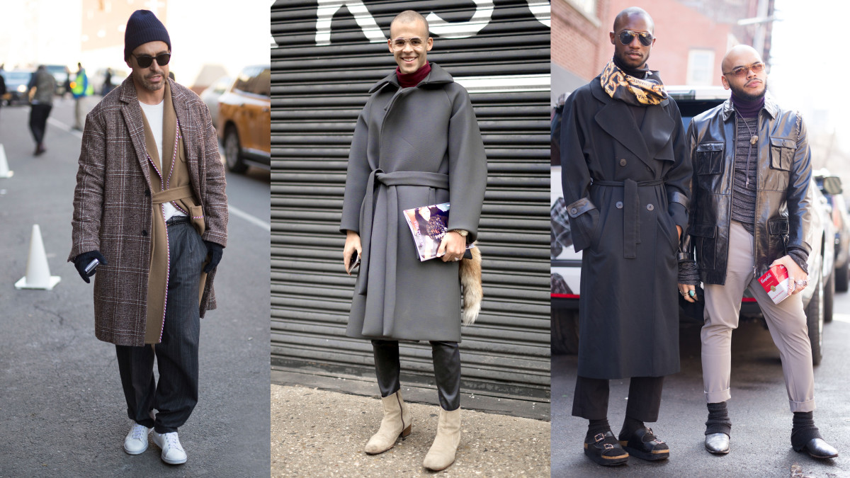 Street style scenes from men's fashion week in New York. Photo: Imaxtree