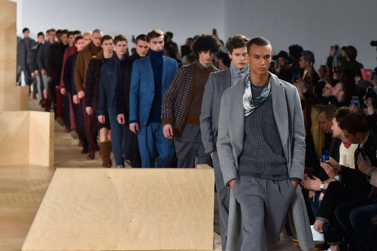 The finale at Perry Ellis's fall/winter 2016 show. Photo: Imaxtree