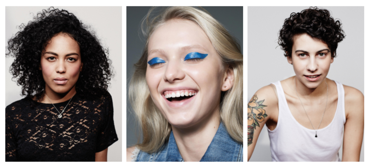 Alliah, Katie and Francesca, three of the models featured in Milk Makeup's campaigns and website. (Photos: Milk Makeup)