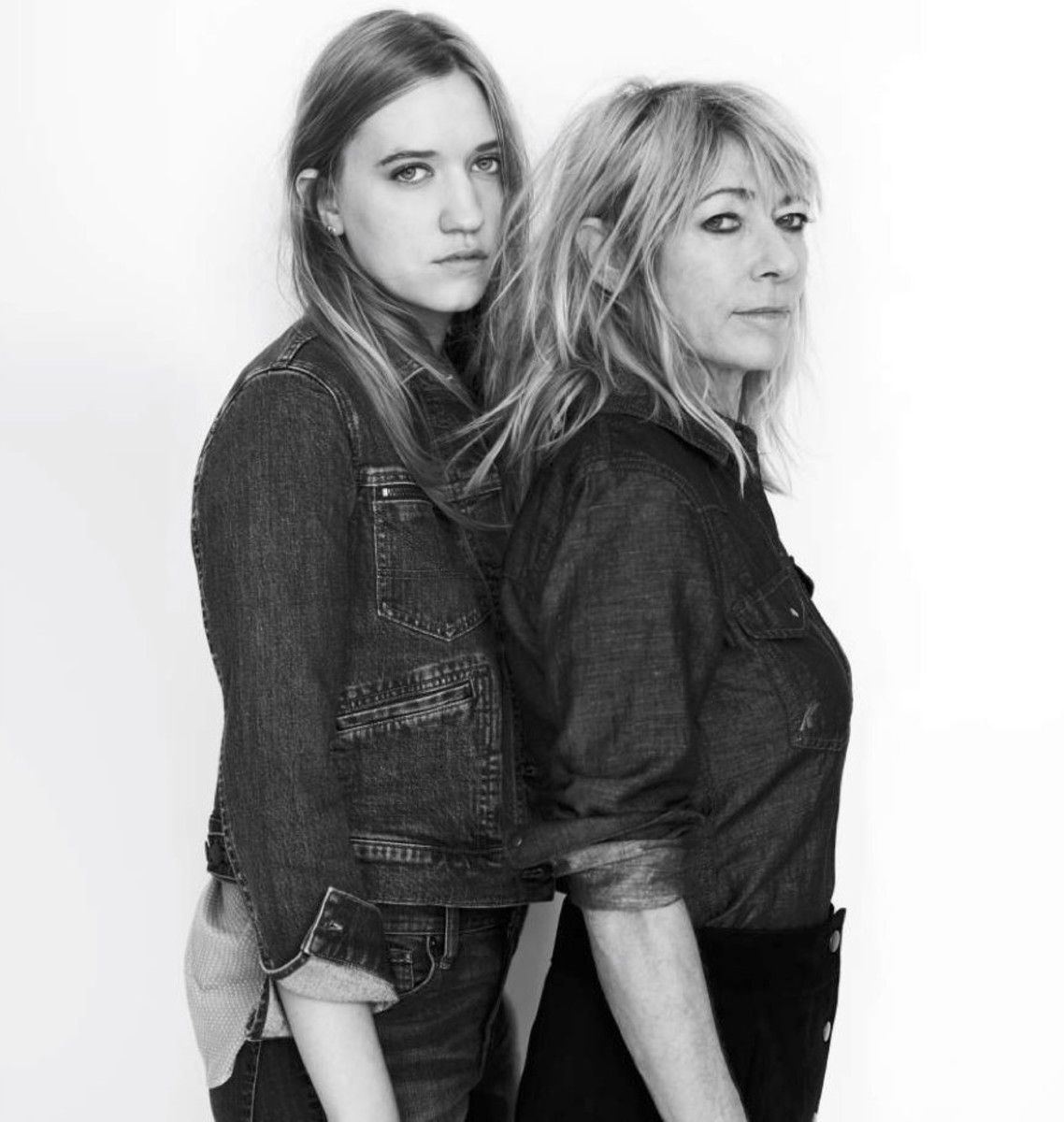 Coco Gordon Moore and Kim Gordon in Madewell x Daryl K. Photo: Madewell