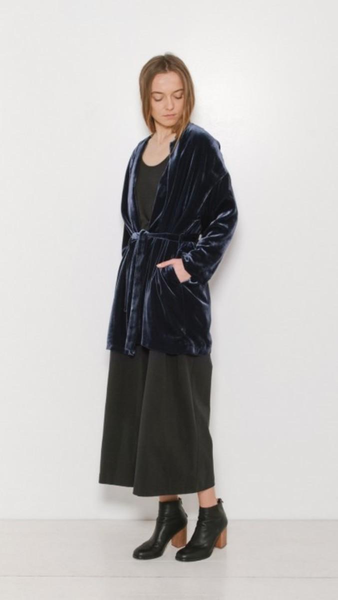 Samuji Velda velvet coat, $440, available at The Dreslyn.