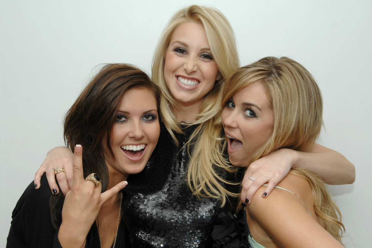 "Audrina Patridge, Whitney Port and Lauren Conrad during ""The Hills"" live finale party in New York in 2007. Photo: Dimitrios Kambouris/WireImage"