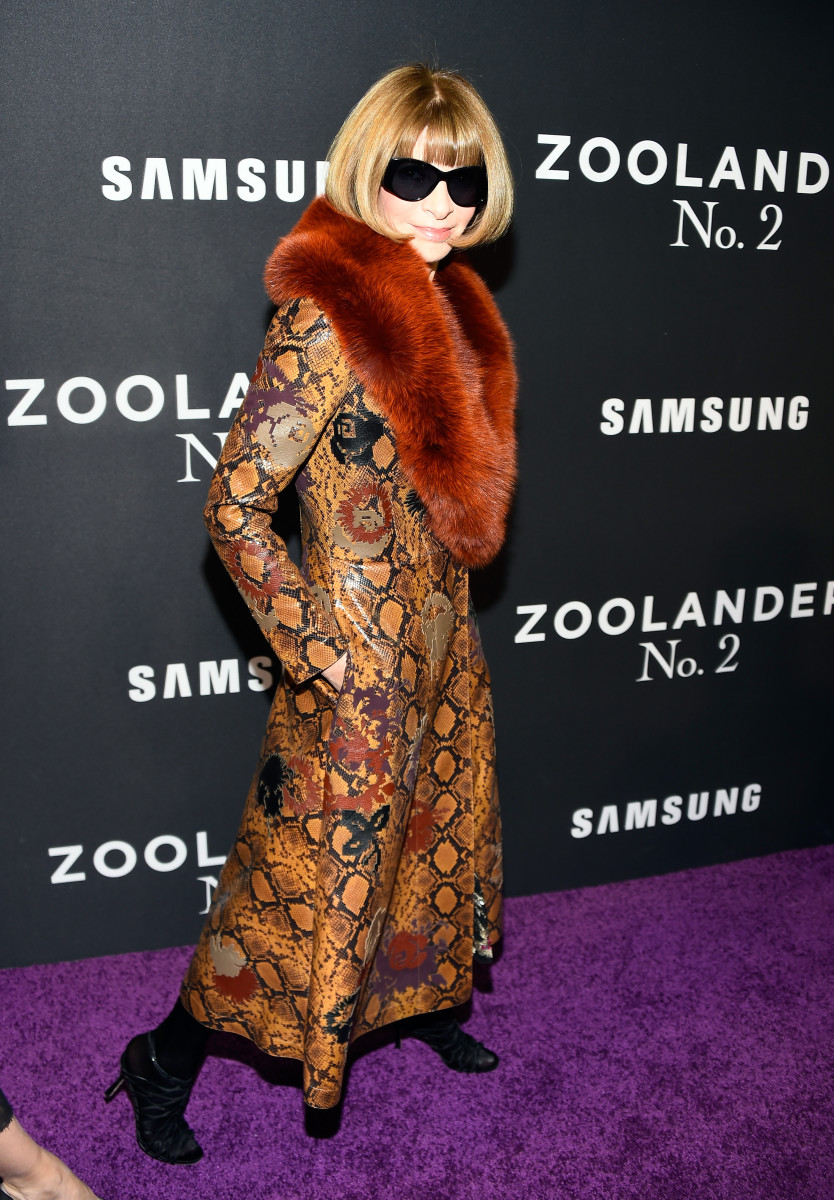 "Anna Wintour at the ""Zoolander 2"" premiere in New York City. Photo: Frazer Harrison/Getty Images"