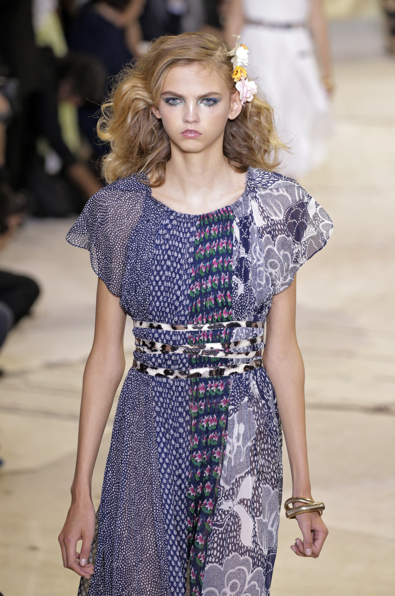 Molly Bair in Diane von Furstenberg's spring 2016 show during New York Fashion Week. Photo: JP Yim/Getty Images
