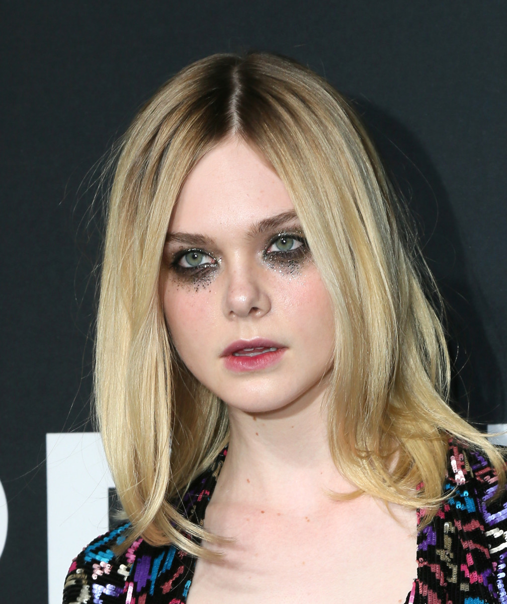 Elle Fanning at the Saint Laurent show February 11 in LA. (Photo: David Livingston/Getty Images)