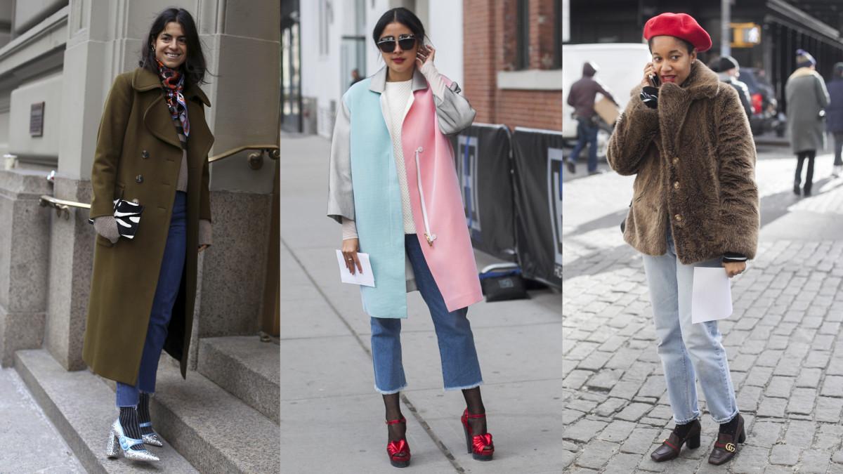 Leandra Medine, Denni Elias and Tamu McPherson. Photos: Angela Datre (1) and Emily Malan (2) / Fashionista
