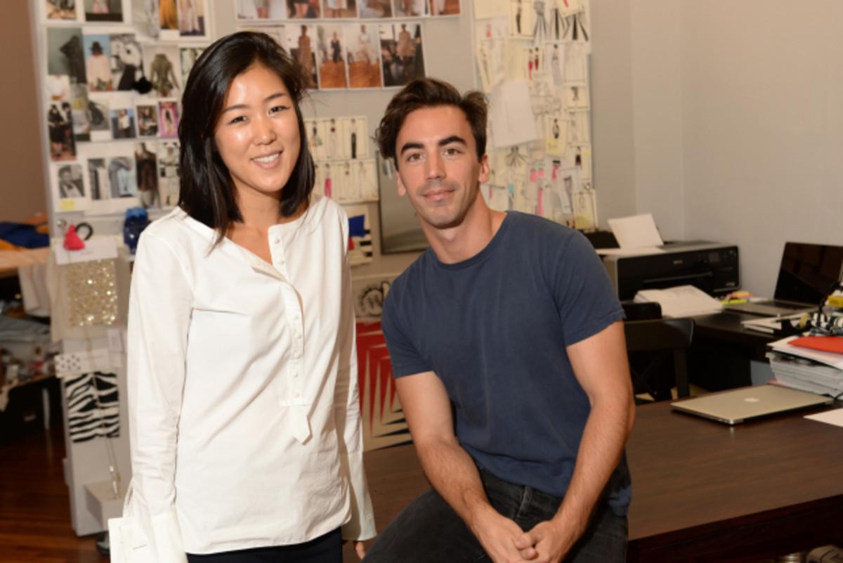 Monse designers Laura Kim and Fernando Garcia in their Soho studio. Photo: Monse