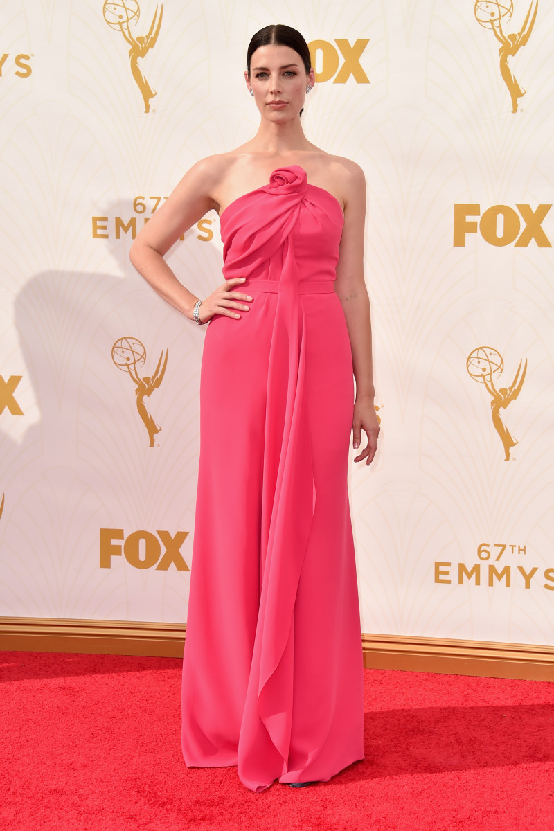 Jessica Pare in Monse at the 2015 Emmy Awards. Photo: Alberto E. Rodriguez/Getty Images for TNT LA