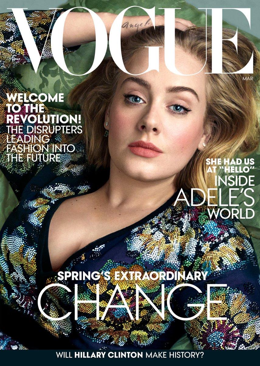 Adele. Photo: Annie Leibovitz/'Vogue'