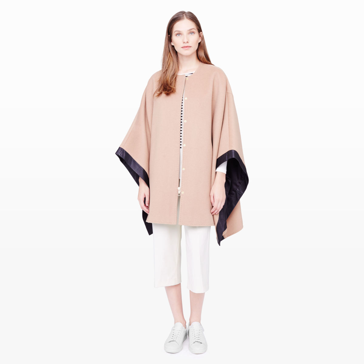 Club Monaco Carly cape, now $329, available at Club Monaco.