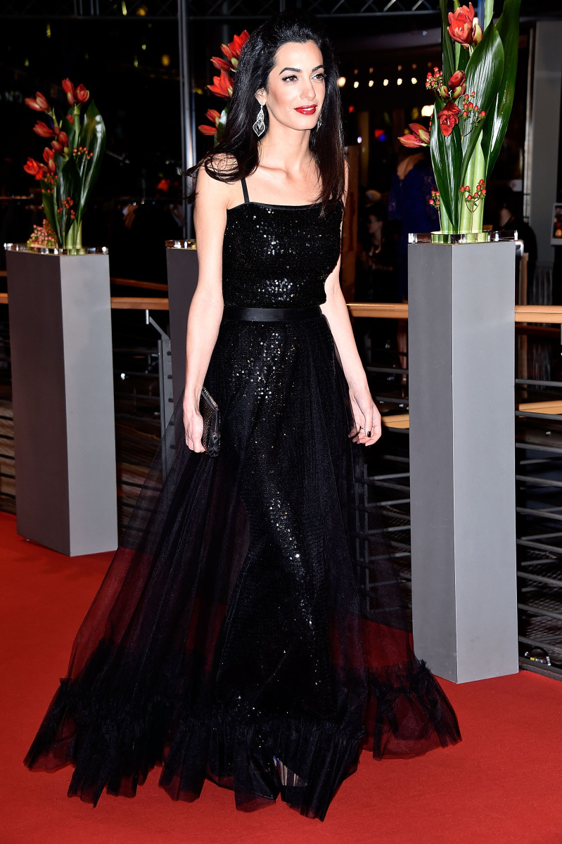 """Amal Clooney in Yves Saint Laurent at the """"Hail, Caesar!"""" premiere at the 66th Berlinale International Film Festival. Photo: Pascal Le Segretain/Getty Images"""