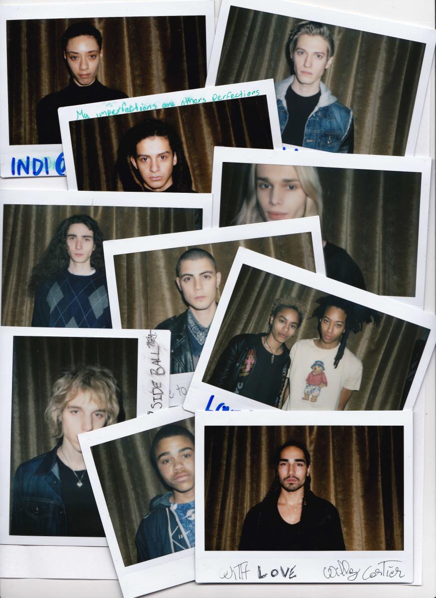 Polaroids of models for Collina Strada's fall 2016 presentation. Photo: Collina Strada