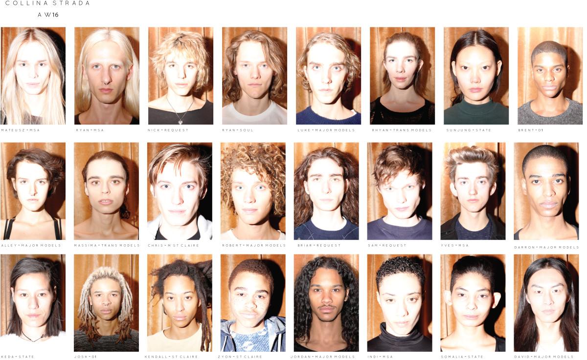 The cast of models for Collina Strada's fall 2016 presentation. Photo: Collina Strada