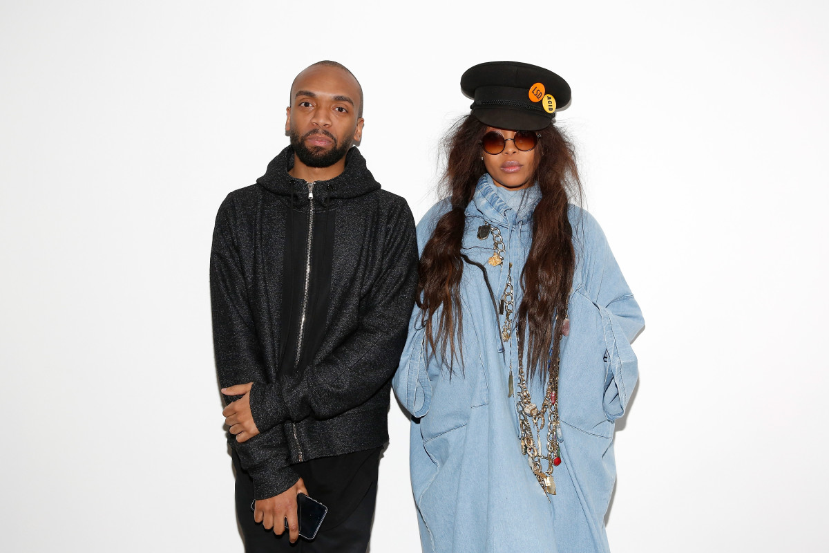 Pyer Moss designer Kerby Jean-Raymond with Erykah Badu. Photo: Mireya Acierto/Getty Images