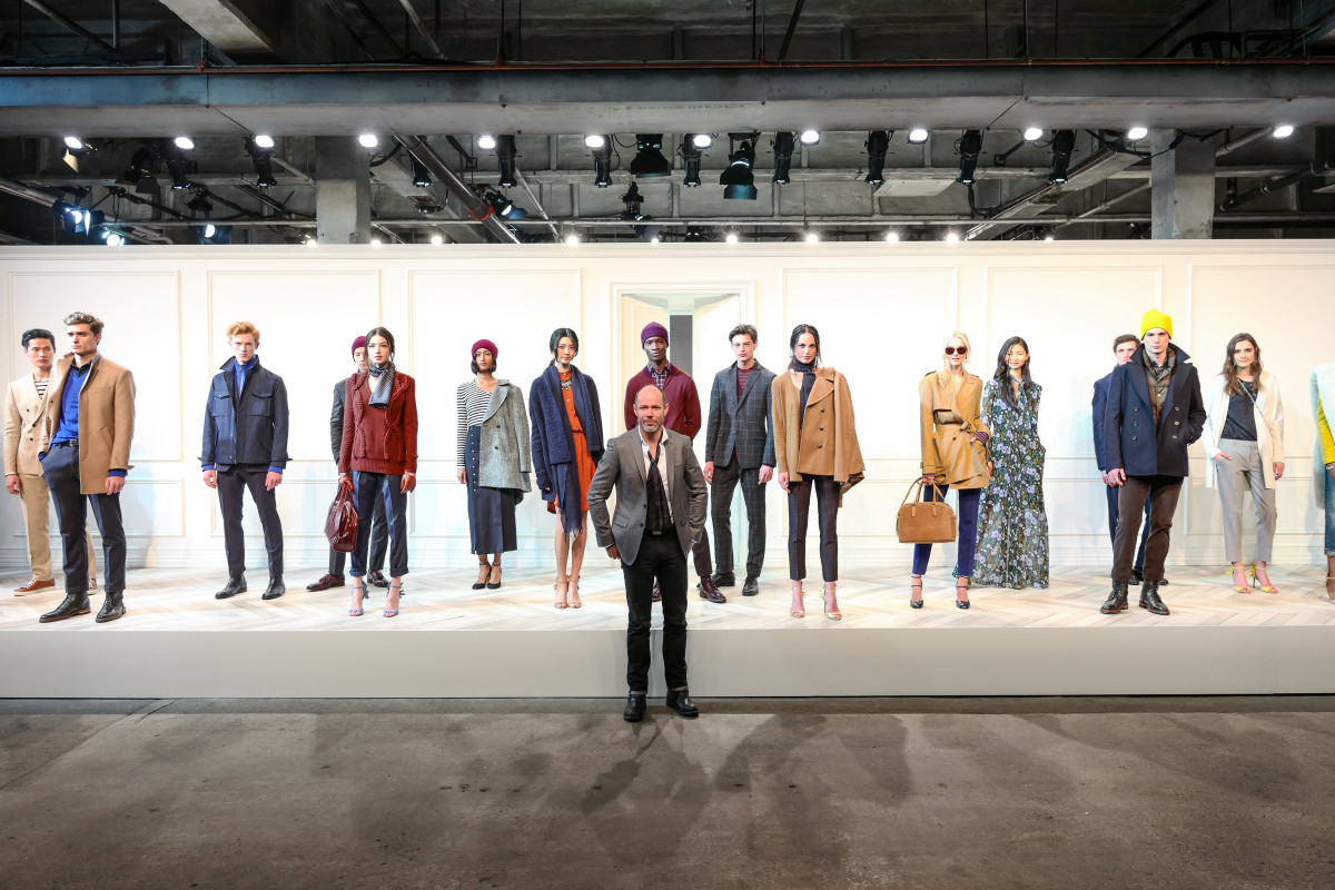 SVP of Design Michael Anderson at the Banana Republic fall '16 presentation. Photo: Banana Republic