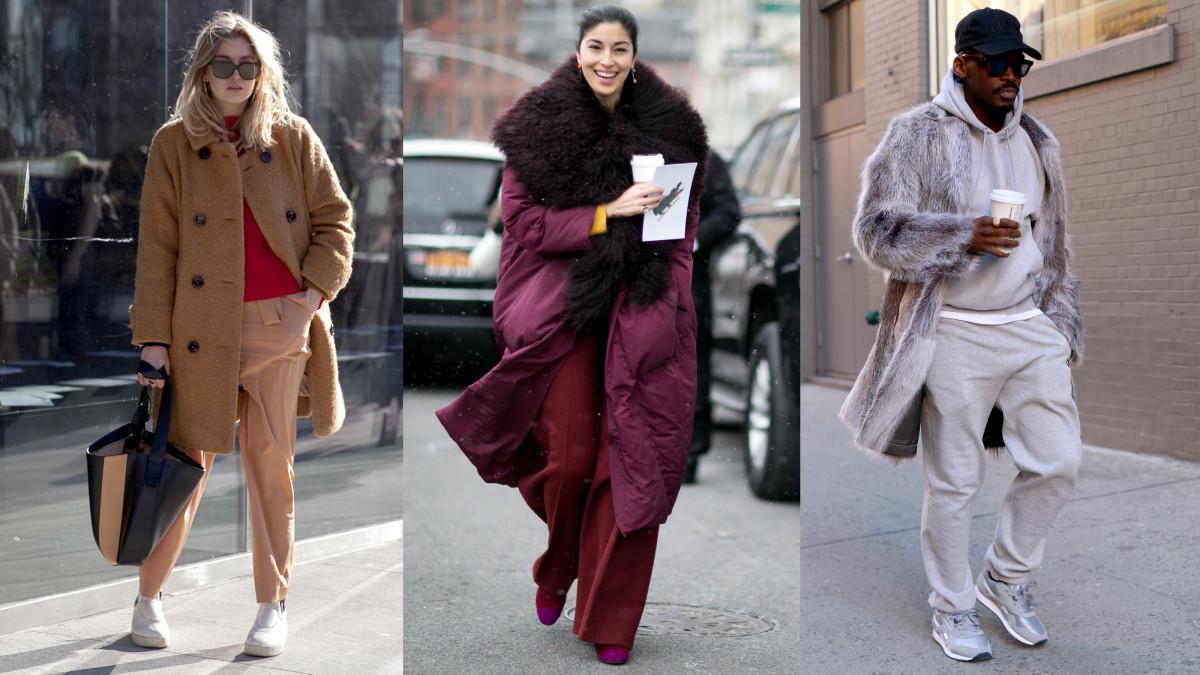 On the very cold streets of New York Fashion Week. Photos: Emily Malan/Fashionista, Imaxtree, Angela Datre/Fashionisa