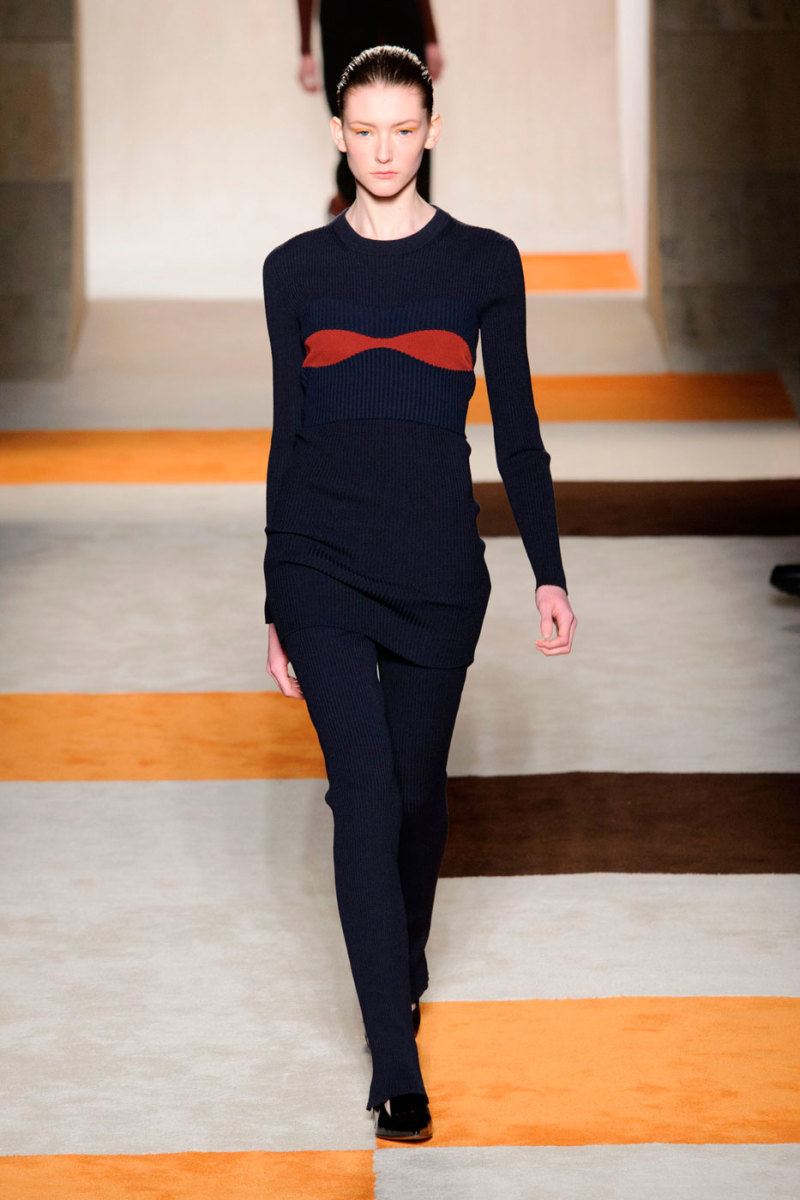 A look from Victoria Beckham's fall/winter 2016 show. Photo: Imaxtree