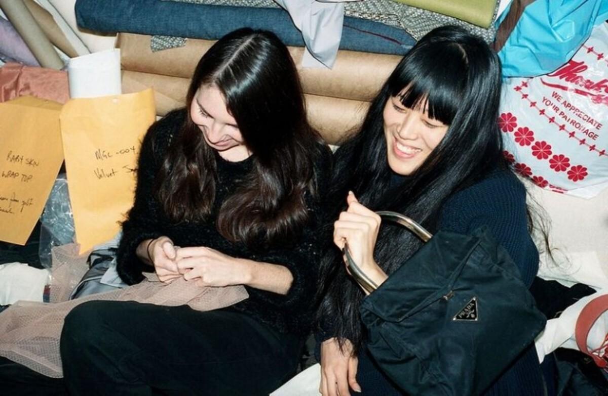 Esther Gauntlett and Jenny Cheng met while interning at Eckhaus Latta. Photo: Josefine Seifert/Milk Studios