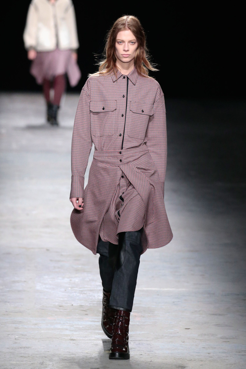 A look from Rag & Bone's fall/winter 2016 show. Photo: JP Yim/Getty Images
