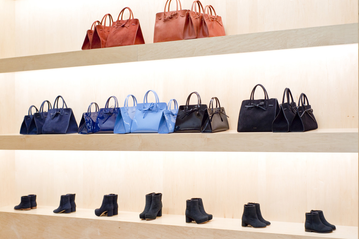 The Sun bag and ankle boots on display. Photo: Mansur Gavriel