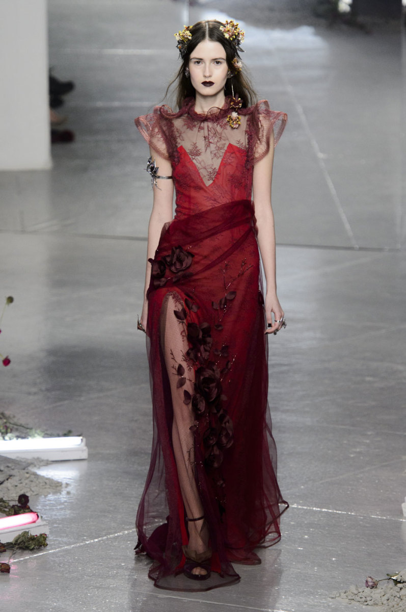 A look from the Rodarte fall 2016 collection. Photo: Imaxtree