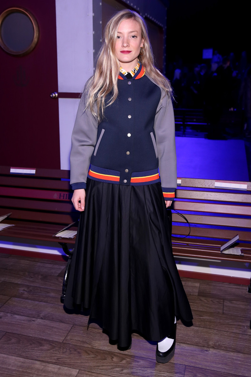 Kate Foley (likely wearing many layers under that skirt) at Tommy Hilfiger. Photo: Neilson Barnard/Getty Images for Tommy Hilfiger