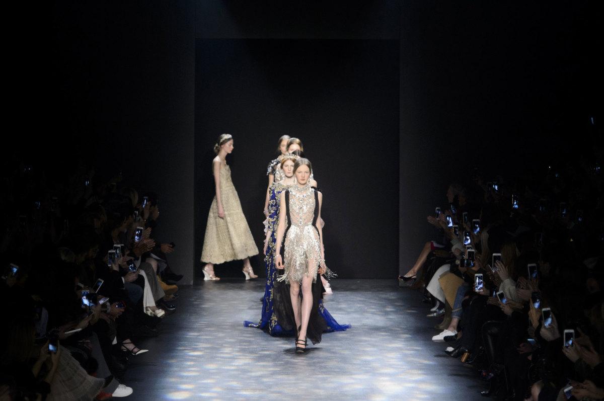 The Marchesa fall 2016 runway show. Photo: Imaxtree