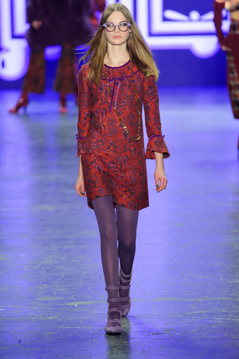 A look from Anna Sui's fall/winter 2016 show. Photo: Imaxtree