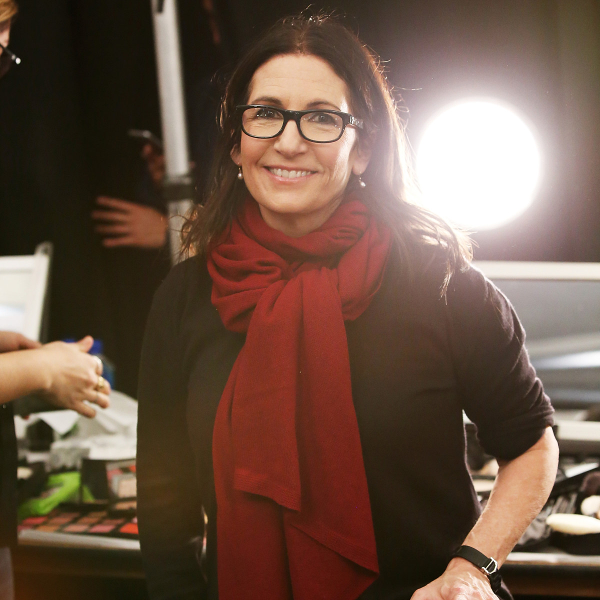Bobbi Brown backstage at the Marchesa show on Wednesday. Photo: Bennett Raglin/Getty Images