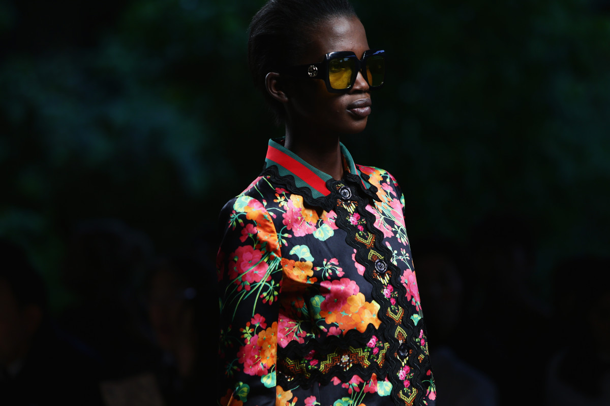 A look from Gucci's spring collection. Photo: Vittorio Zunino Celotto/Getty Images