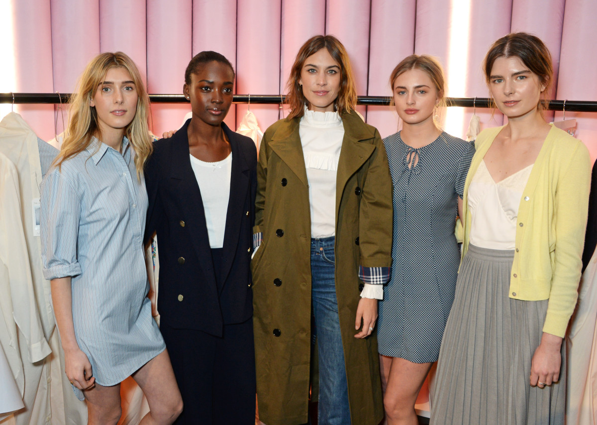 Alexa Chung and models wear her new Marks & Spencer collection. Photo: Marks & Spencer